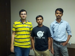 From L to R: Me, Purvesh Shah and Ankit Javalakar