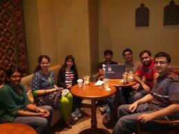 From R to L: Me, Sandesh Deshpande, Hardik Shah, Purvesh Shah, Dhanashri, Anushree Salunkhe